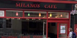 Milanos Cafe Header Image